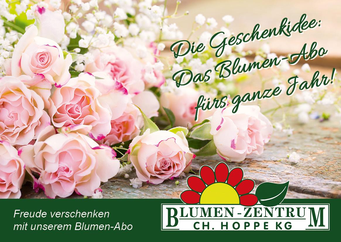 Blumen-Abo - die Geschenkidee fürs ganze Jahr!